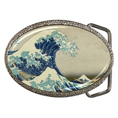 The Classic Japanese Great Wave Off Kanagawa By Hokusai Belt Buckles by PodArtist