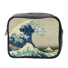 The Classic Japanese Great Wave Off Kanagawa By Hokusai Mini Toiletries Bag 2 Side by PodArtist