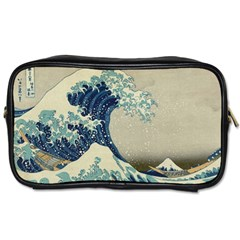 The Classic Japanese Great Wave Off Kanagawa By Hokusai Toiletries Bags by PodArtist