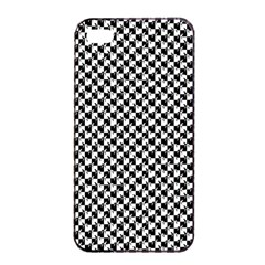 Black And White Checkerboard Weimaraner Apple Iphone 4/4s Seamless Case (black)