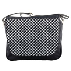 Black And White Checkerboard Weimaraner Messenger Bags by PodArtist