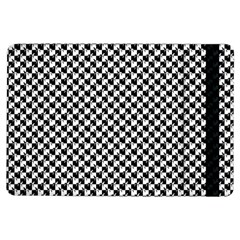 Black And White Checkerboard Weimaraner Ipad Air Flip by PodArtist