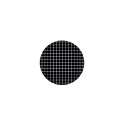 Black And White Optical Illusion Dots And Lines 1  Mini Buttons by PodArtist