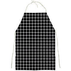Black And White Optical Illusion Dots And Lines Full Print Aprons