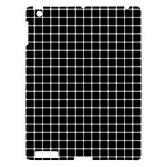Black And White Optical Illusion Dots And Lines Apple Ipad 3/4 Hardshell Case