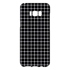Black And White Optical Illusion Dots And Lines Samsung Galaxy S8 Plus Hardshell Case