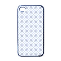 Alice Blue Quatrefoil In An English Country Garden Apple Iphone 4 Case (black) by PodArtist