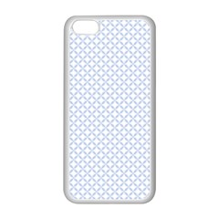 Alice Blue Quatrefoil In An English Country Garden Apple Iphone 5c Seamless Case (white) by PodArtist