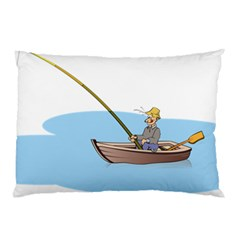 Fishing Fish Fisherman Boat Mare Pillow Case (two Sides)
