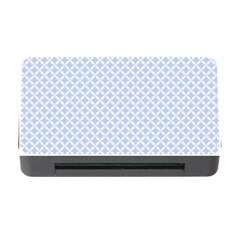 Alice Blue Quatrefoil In An English Country Garden Memory Card Reader With Cf by PodArtist