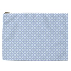 Alice Blue Quatrefoil In An English Country Garden Cosmetic Bag (xxl)  by PodArtist