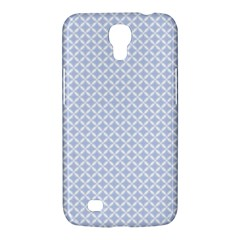 Alice Blue Quatrefoil In An English Country Garden Samsung Galaxy Mega 6 3  I9200 Hardshell Case by PodArtist