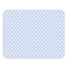 Alice Blue Quatrefoil In An English Country Garden Double Sided Flano Blanket (large)  by PodArtist