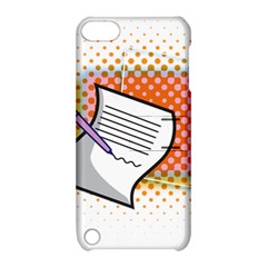 Letter Paper Note Design White Apple Ipod Touch 5 Hardshell Case With Stand by Sapixe