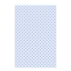 Alice Blue Hearts In An English Country Garden Shower Curtain 48  X 72  (small)  by PodArtist