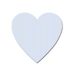 Alice Blue Pinstripe In An English Country Garden Heart Magnet by PodArtist