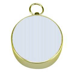 Alice Blue Pinstripe In An English Country Garden Gold Compasses by PodArtist