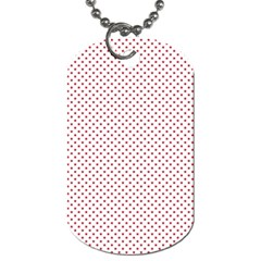 Usa Flag Red Stars On White Dog Tag (one Side)