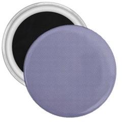 Usa Flag Blue & White Wavy Zigzag Chevron Stripes 3  Magnets