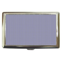 Usa Flag Blue And White Gingham Checked Cigarette Money Cases by PodArtist