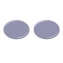 Usa Flag Blue And White Gingham Checked Cufflinks (oval) by PodArtist
