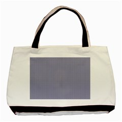 Usa Flag Blue And White Gingham Checked Basic Tote Bag by PodArtist