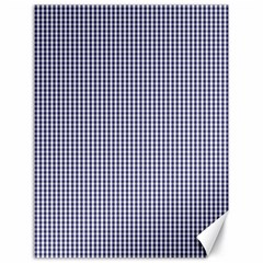 Usa Flag Blue And White Gingham Checked Canvas 18  X 24   by PodArtist