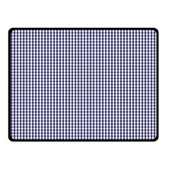 Usa Flag Blue And White Gingham Checked Fleece Blanket (small) by PodArtist
