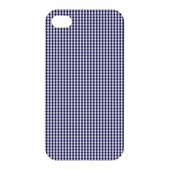 Usa Flag Blue And White Gingham Checked Apple Iphone 4/4s Hardshell Case by PodArtist