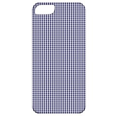 Usa Flag Blue And White Gingham Checked Apple Iphone 5 Classic Hardshell Case by PodArtist