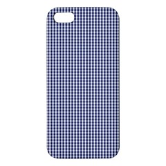 Usa Flag Blue And White Gingham Checked Iphone 5s/ Se Premium Hardshell Case by PodArtist