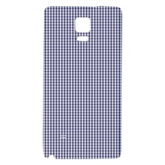 Usa Flag Blue And White Gingham Checked Galaxy Note 4 Back Case by PodArtist