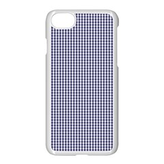 Usa Flag Blue And White Gingham Checked Apple Iphone 7 Seamless Case (white) by PodArtist