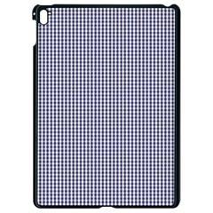 Usa Flag Blue And White Gingham Checked Apple Ipad Pro 9 7   Black Seamless Case by PodArtist
