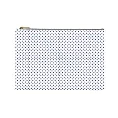 Usa Flag Blue Stars On White Cosmetic Bag (large)  by PodArtist