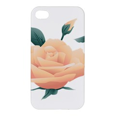 Rose Flower Nature Floral Summer Apple Iphone 4/4s Premium Hardshell Case by Sapixe