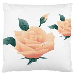 Rose Flower Nature Floral Summer Large Flano Cushion Case (one Side)