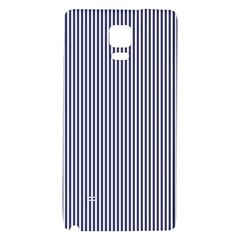 Usa Flag Blue And White Stripes Galaxy Note 4 Back Case by PodArtist