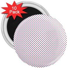 Usa Flag Red And Flag Blue Stars 3  Magnets (10 Pack)  by PodArtist