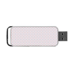 Usa Flag Red And Flag Blue Stars Portable Usb Flash (one Side) by PodArtist