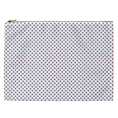 Usa Flag Red And Flag Blue Stars Cosmetic Bag (xxl)  by PodArtist