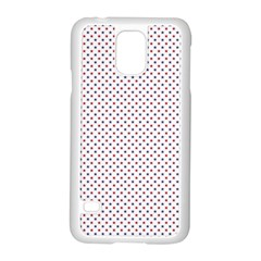 Usa Flag Red And Flag Blue Stars Samsung Galaxy S5 Case (white) by PodArtist