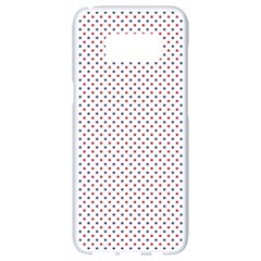 Usa Flag Red And Flag Blue Stars Samsung Galaxy S8 White Seamless Case by PodArtist