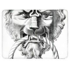 Steampunk Steam Punk Lion Door Samsung Galaxy Tab 7  P1000 Flip Case