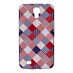 Usa Americana Diagonal Red White & Blue Quilt Samsung Galaxy Mega 6 3  I9200 Hardshell Case by PodArtist