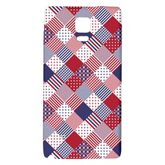 Usa Americana Diagonal Red White & Blue Quilt Galaxy Note 4 Back Case by PodArtist