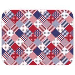 Usa Americana Diagonal Red White & Blue Quilt Full Print Lunch Bag by PodArtist