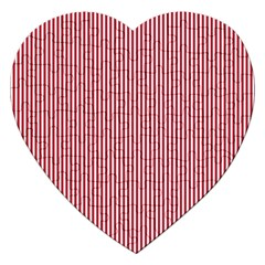 Usa Flag Red And White Stripes Jigsaw Puzzle (heart) by PodArtist