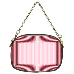 Usa Flag Red And White Stripes Chain Purses (one Side)  by PodArtist