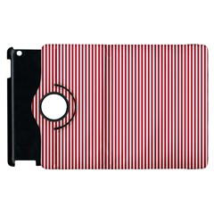 Usa Flag Red And White Stripes Apple Ipad 2 Flip 360 Case